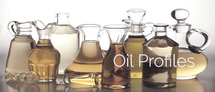 different bottles of oil