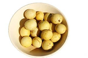 Marula fruit in a bowl