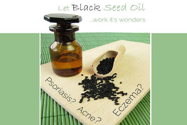 bottle of black seed oil and black seeds