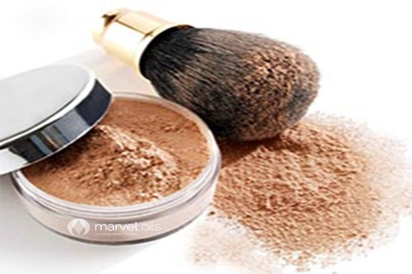 foundation powder and brush