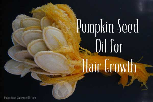 pumpkin seeds and stringy flesh