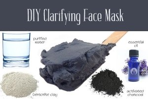 clay and charcoal face mask
