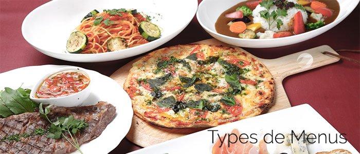 types de menus