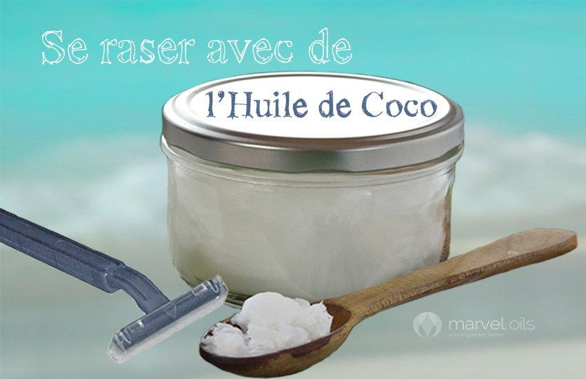 Se raser avec de l'Huile de Coco