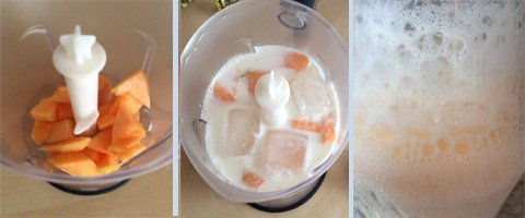blending kefir smoothie