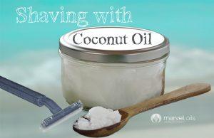 jar of coconut oil and razor