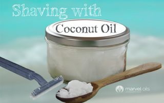 jar of coconut oil and razor