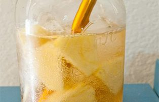 glass of pineapple ginger soda