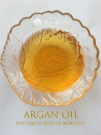 glass bowl with Argan oil