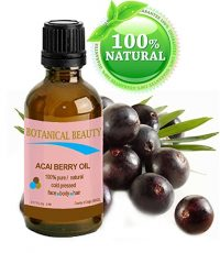 bottle of acai oil with berries