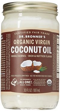 jar of coconut oil dr bronners