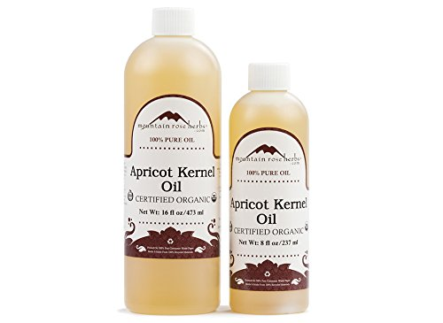 bottle of organic apricot kernel oil mountain rose