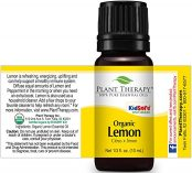 bottle of organic lemon oil plant therapy 10ml