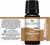 10ml bottle of organic cedarwood oil plant therapy