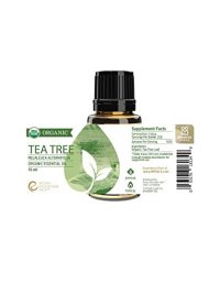 bottle of organic tea tree oil rocky mountain oils