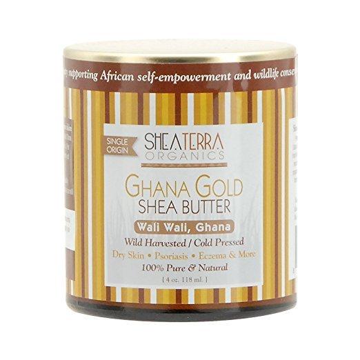 jar of ghana gold shea butter