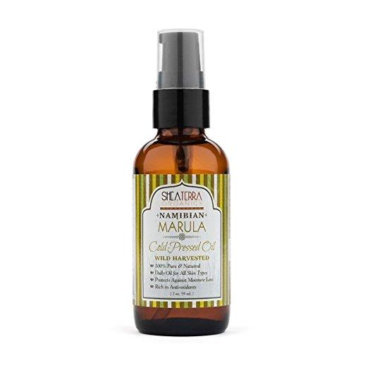 bottle of marula oil