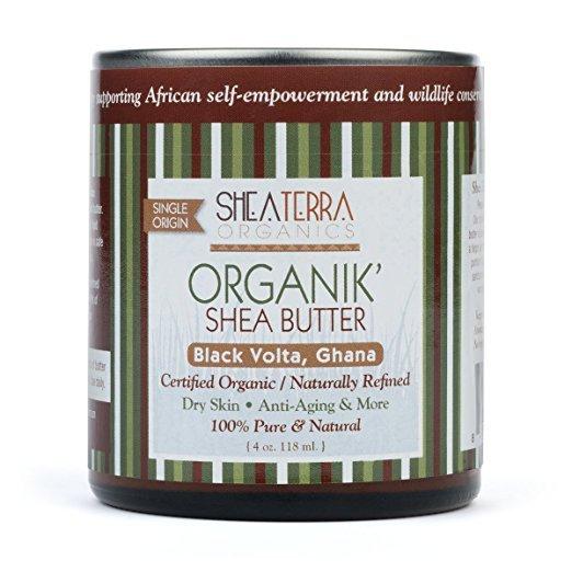 jar of shea butter organik
