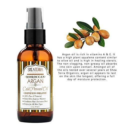 bottle of argan oil shea terra organics