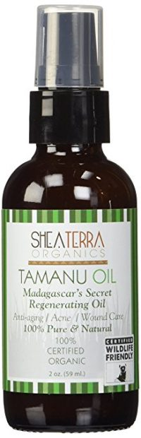 bottle of tamanu oil