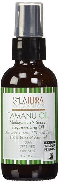 bottle of tamanu oil