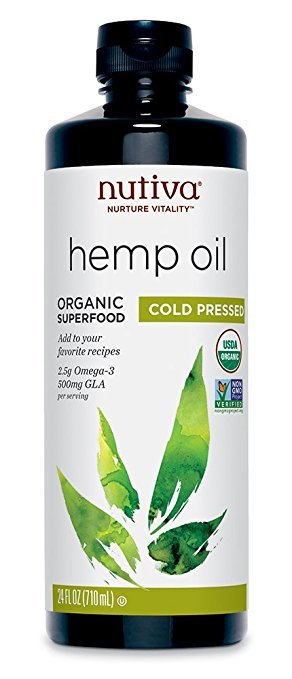 bottle of nutiva hemp oil