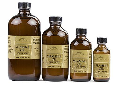 bottles of vitamin e oil